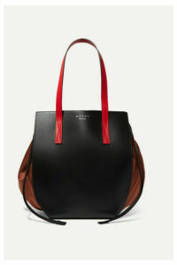 Marni - Color-block Leather And Shell Shoulder Bag - Black