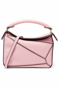 Loewe - Puzzle Mini Textured-leather Shoulder Bag - Pink