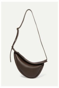 The Row - Slouchy Banana Small Textured-leather Shoulder Bag - Brown