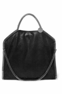 Stella McCartney - The Falabella Small Faux Brushed-leather Shoulder Bag - Black