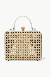 Mehry Mu - Luna Leather And Rattan Tote - White