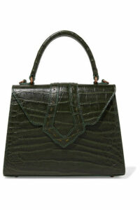 Mehry Mu - Fey Croc-effect Leather Tote - Green