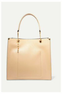 Marni - Large Two-tone Textured-leather Tote - Beige