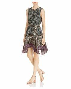 Rebecca Taylor Louisa Color-Blocked Floral Dress