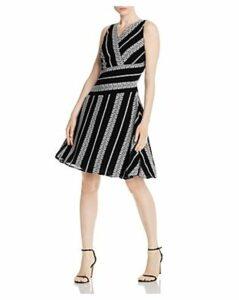Donna Karan New York Embroidered Sleeveless Dress