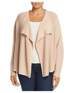 Eileen Fisher Plus Draped Open-Front Cardigan