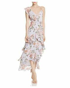 Wayf Morgana Tiered Ruffle Midi Dress