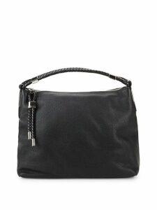 Zip Leather Top Handle Bag