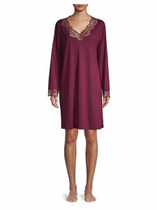 Lace Trim Gown