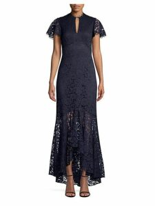 Aimi Keyhole Lace Gown