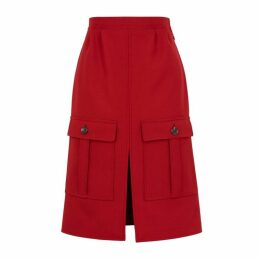 Chloé Dark Red Woven Skirt