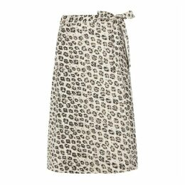 Joie Leopard Linen Skirt