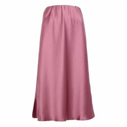 Nanushka Zarina Dusky Pink Satin Midi Skirt