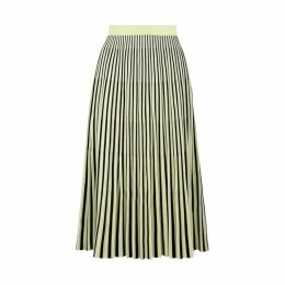 Proenza Schouler Yellow Striped Jacquard-knit Skirt