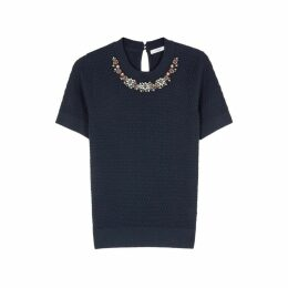 Erdem Bette Embellished Wool Jumper