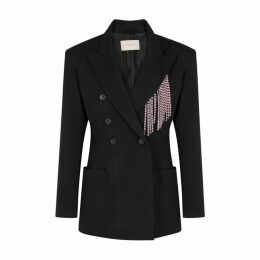 Christopher Kane Black Crystal-embellished Twill Blazer