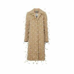 Burberry Embellished Cotton Gabardine Car Coat