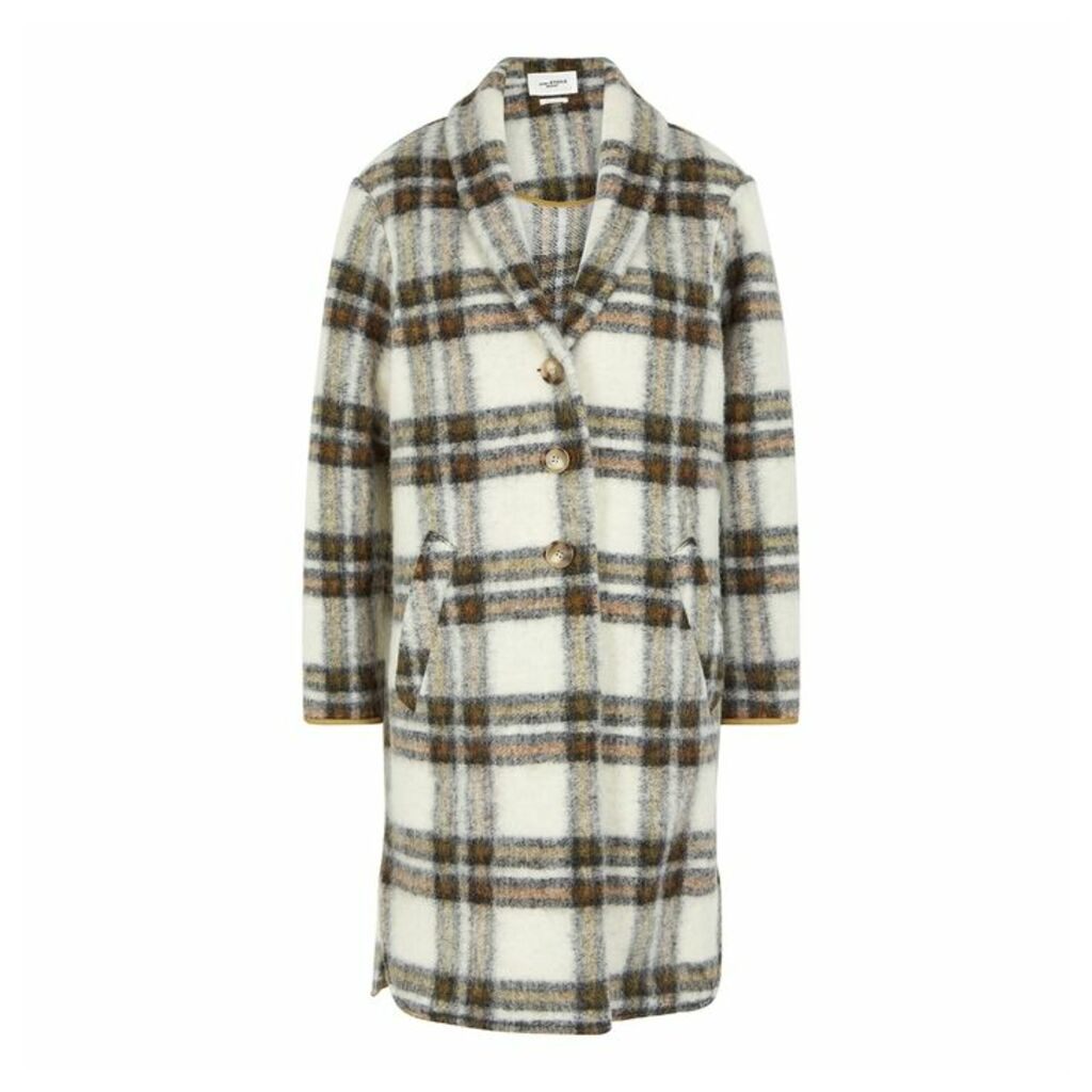 Isabel Marant Étoile Gabriel Checked Wool-blend Coat