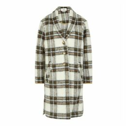Isabel Marant Étoile Gabriel Checked Wool-blend Coat
