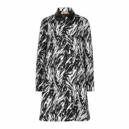 No.21 Zebra-print Cotton Coat