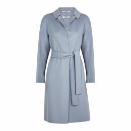 S Maxmara Doraci Light Blue Wool Coat