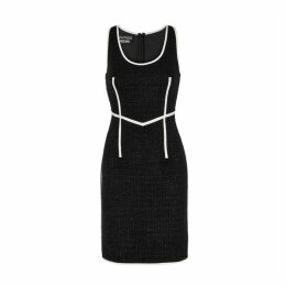 Boutique Moschino Black Metallic Tweed Dress