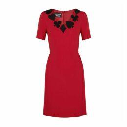 Boutique Moschino Red Appliquéd Dress