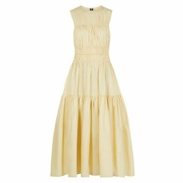 Roksanda Isilda Gathered Dark Ivory Cotton Dress