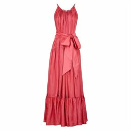 KALITA Genevieve Pink Silk Maxi Dress