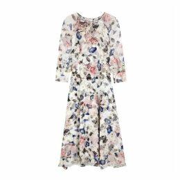 Erdem Floral-print Silk Dress