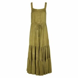 Sundress Lucia Khaki Knitted Maxi Dress