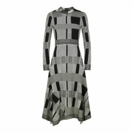 Proenza Schouler Black Patchwork Cotton-blend Dress