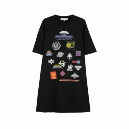 McQ Alexander McQueen Black Retro Babydoll T-shirt Dress