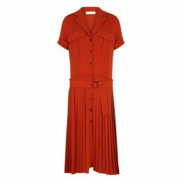 Victoria, Victoria Beckham Burnt Orange Crepe Dress
