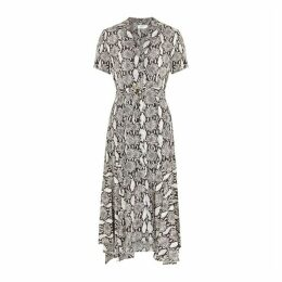 A.L.C. Clarkson Snake-print Silk Midi Dress