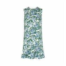 Victoria, Victoria Beckham White Printed Crepe Shift Dress