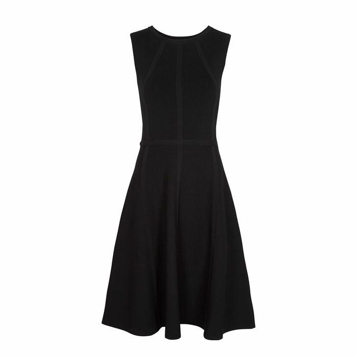 Paule Ka Black Stretch-knit Dress