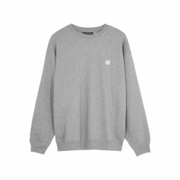 Acne Studios Forba Face Grey Cotton Sweatshirt