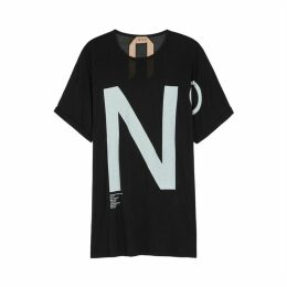 No.21 Black Logo-print Modal T-shirt