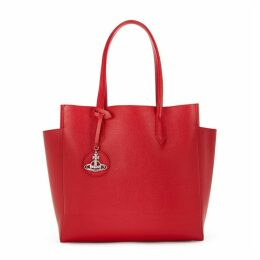 Vivienne Westwood Rachel Red Leather Tote