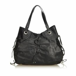Dolce & Gabbana Black Leather Tote Bag