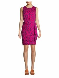 Micah Floral Ruched Bodycon Dress