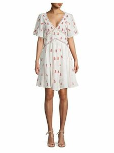 Ruth Embroidered Tie-Back Cotton Dress