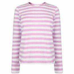 Ganni Striped Long Sleeve T Shirt