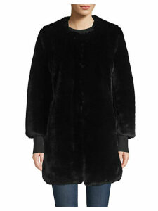 COLLECTION Faux Fur Plush Car Coat