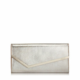 ERICA Champagne Glitter Leather Clutch Bag