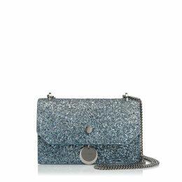 FINLEY Silver and Dusk Blue Fireball Glitter Dégradé Cross Body Mini Bag