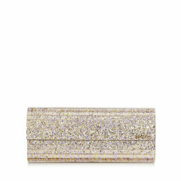 SWEETIE Platinum Mix Painted Coarse Glitter Acrylic Clutch Bag with Gold Chain Strap