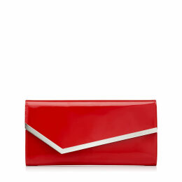 ERICA Red Patent and Suede Clutch Bag
