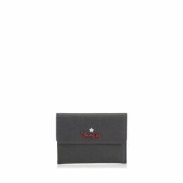 ALBIN Black Grainy Calf Leather Coin Pouch